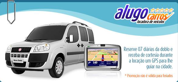 Reserve 07 diárias da doblo e receba de cortesia durante  a locação um GPS para lhe guiar na cidade.